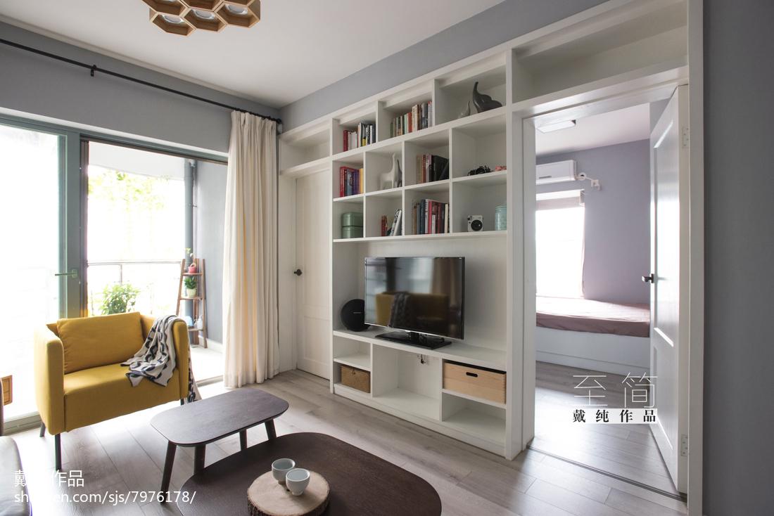热门面积74平现代二居客厅装修效果图片欣赏