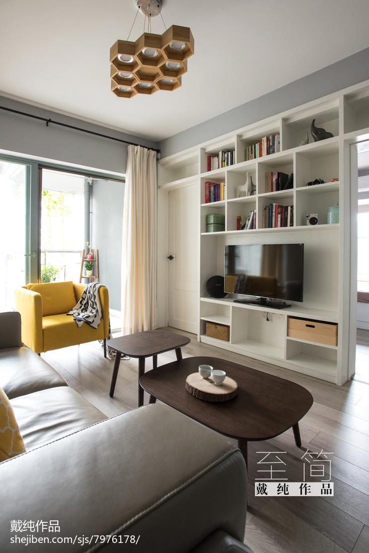 热门大小82平现代二居客厅欣赏图