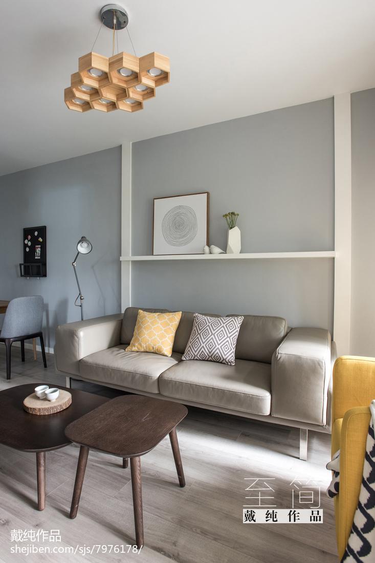2018精选76平方二居客厅现代实景图片