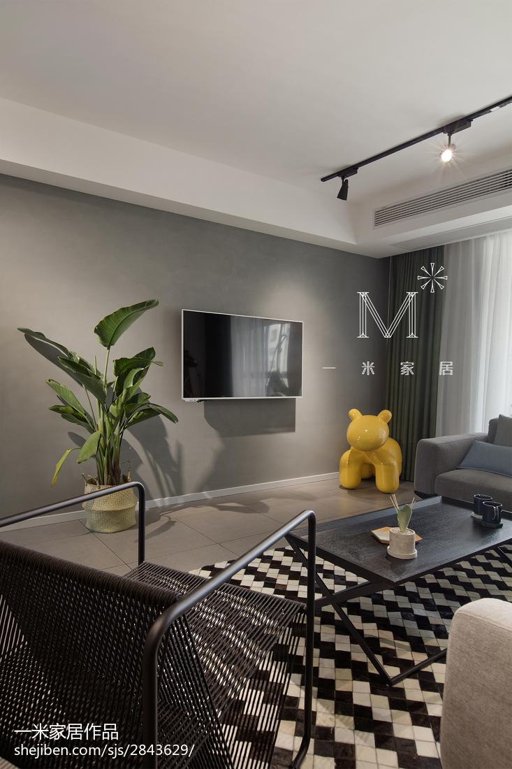2018精选面积94平北欧三居客厅效果图片