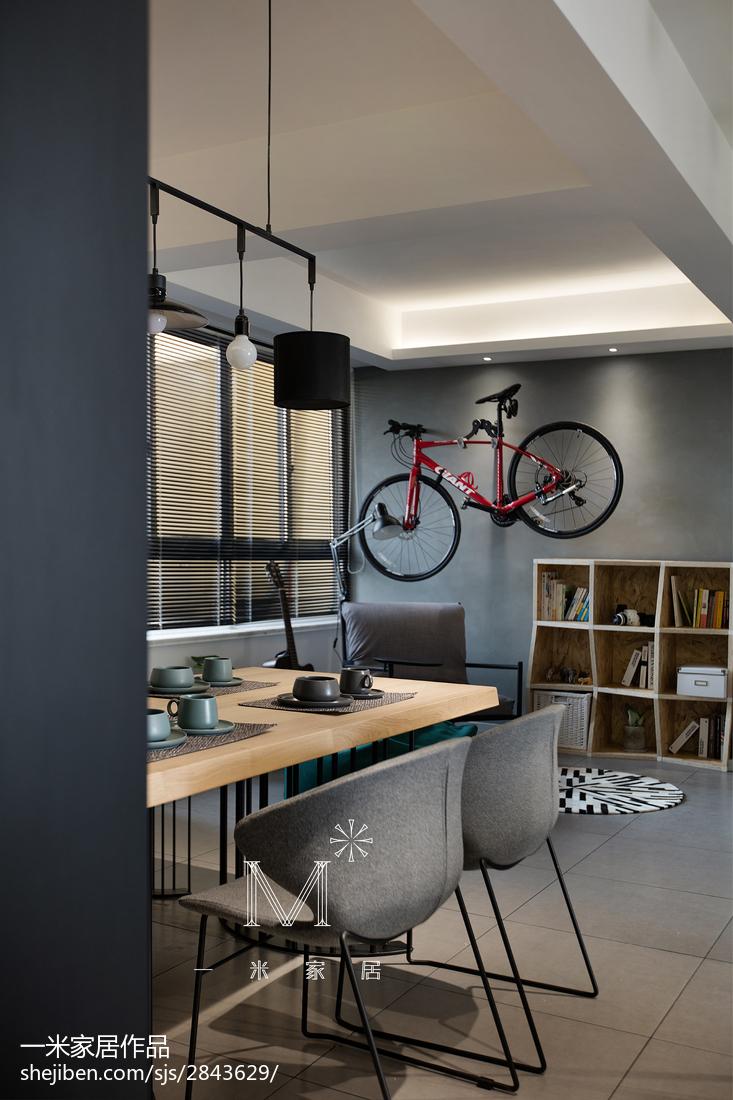 精选94平米三居餐厅北欧装修设计效果图片