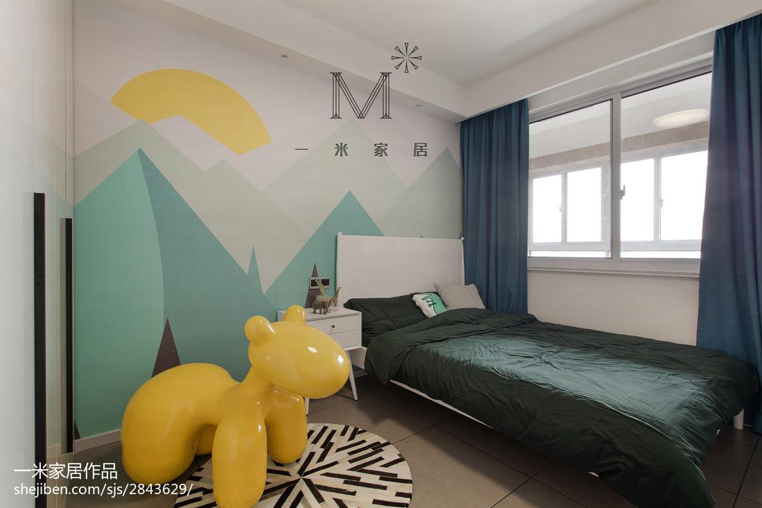 精选面积107平北欧三居儿童房装修图片大全