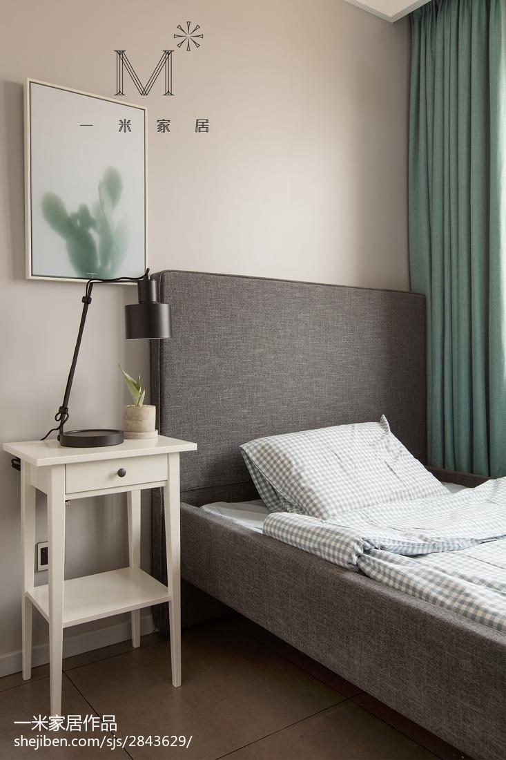 2018精选面积97平北欧三居卧室装修实景图片