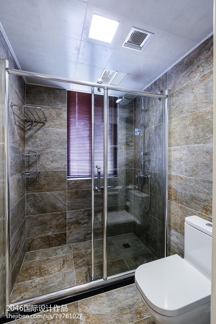 面积107平简约三居卫生间效果图片欣赏