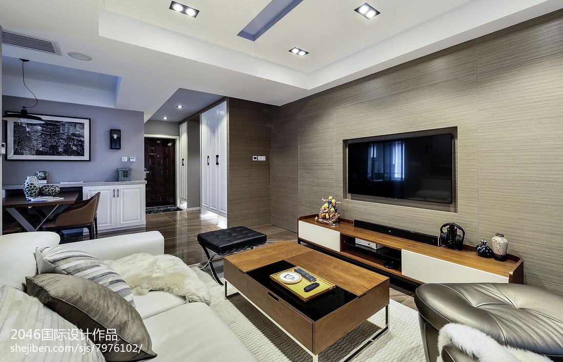 精选94平米三居客厅简约装修设计效果图