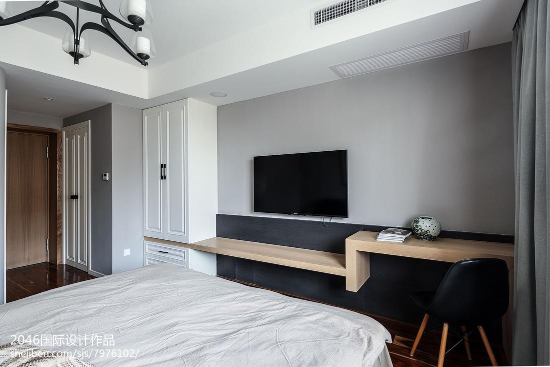 面积91平简约三居卧室装修设计效果图