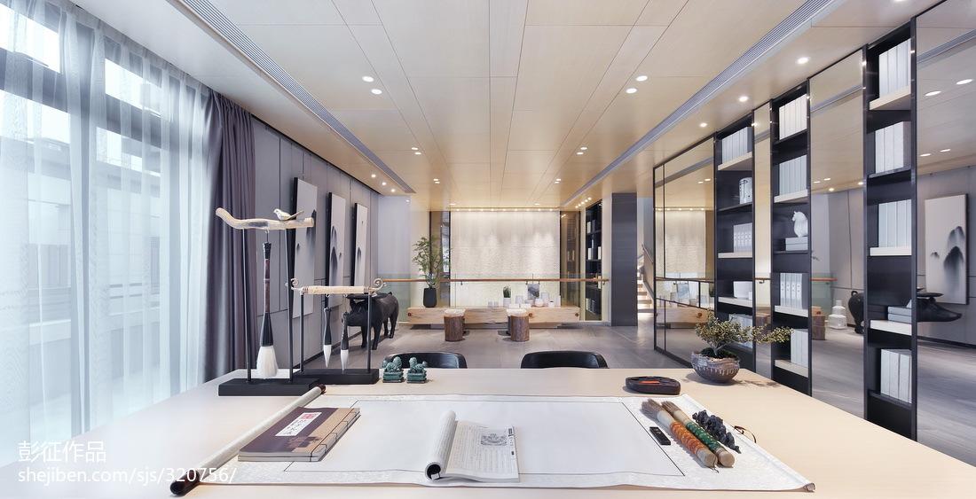 精选135平米中式别墅书房装修实景图