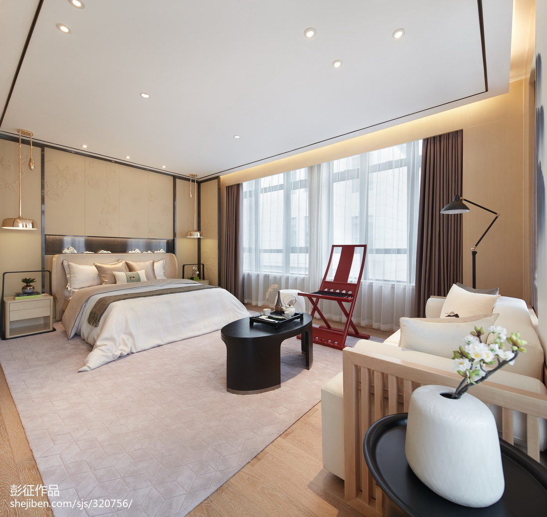 141平米中式别墅卧室装修图片欣赏