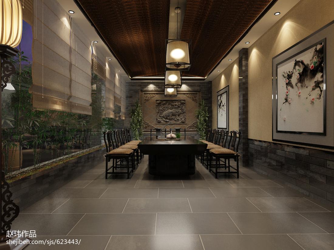2018136平米中式别墅休闲区装修效果图片欣赏