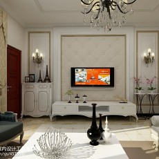 面积129平别墅客厅欧式装修效果图