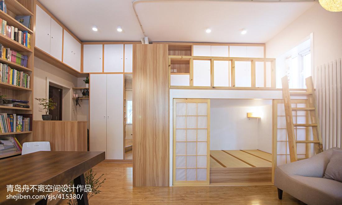 2018精选面积73平小户型卧室日式装修效果图片欣赏