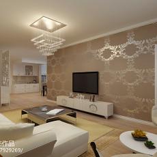 精美面积84平田园二居客厅装修设计效果图片