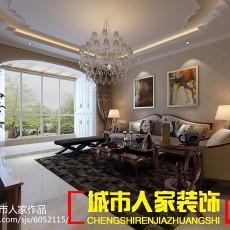 精美90平米三居客厅欧式效果图片大全