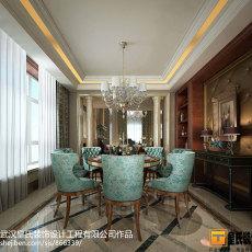 精美面积111平别墅餐厅美式装修实景图片欣赏