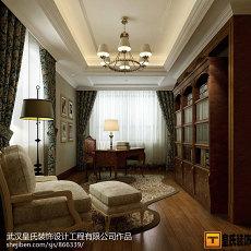 面积139平别墅书房美式装修欣赏图片