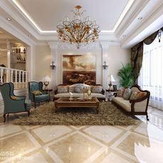 热门美式别墅客厅装修效果图片欣赏