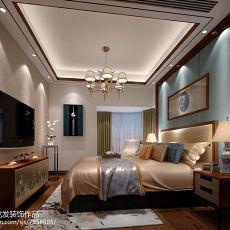 精选面积72平中式二居卧室实景图