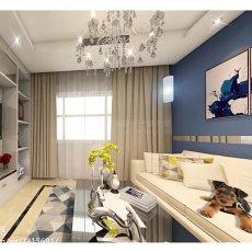 大小74平现代二居客厅装修实景图片大全