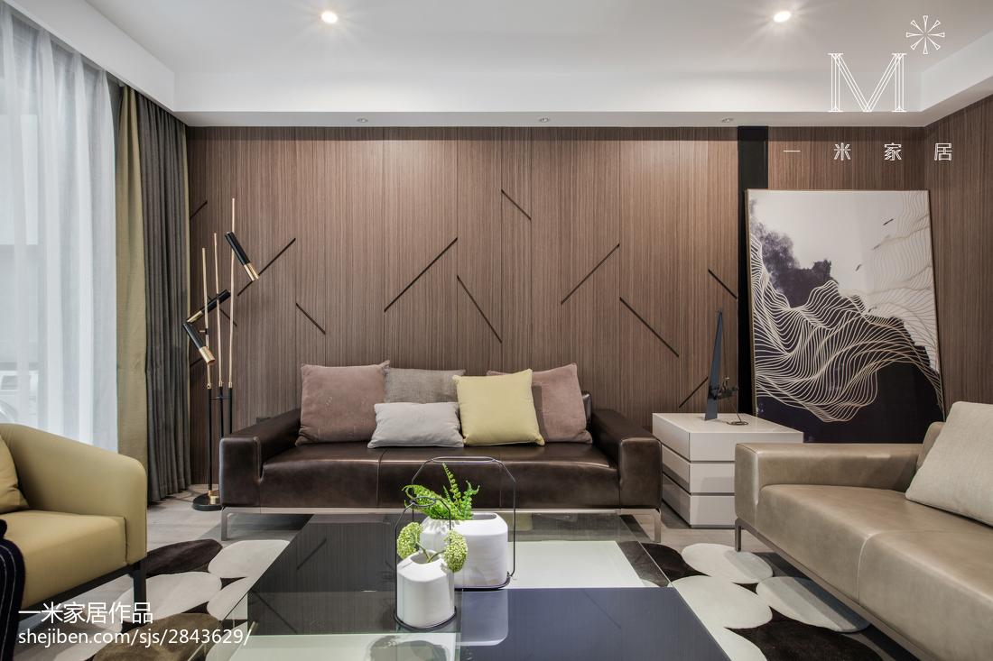 精致84平现代三居客厅装修设计图