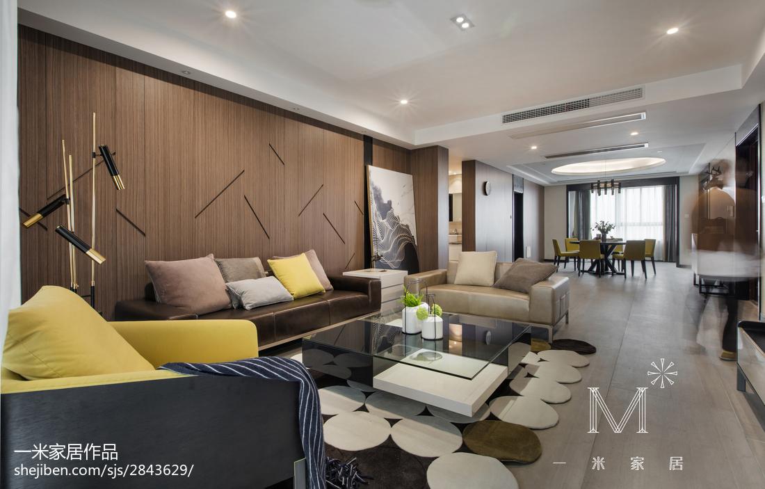 2018103平米三居客厅现代效果图片欣赏