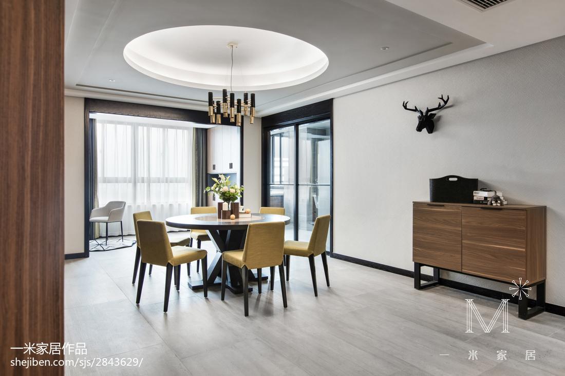 2018面积90平现代三居餐厅实景图片欣赏