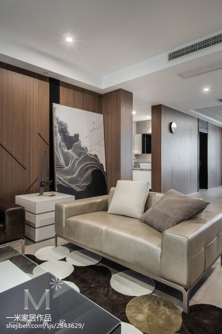 大小103平现代三居客厅装饰图片