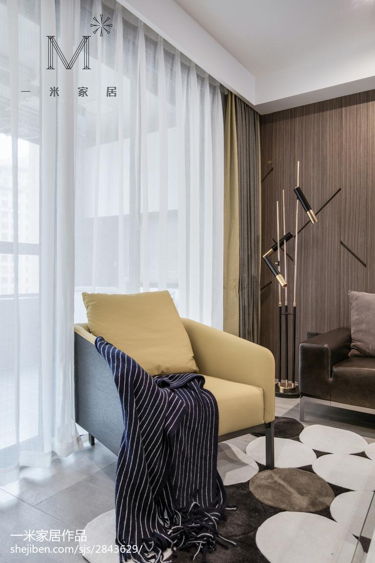 96平大小客厅三居现代装修效果图片大全