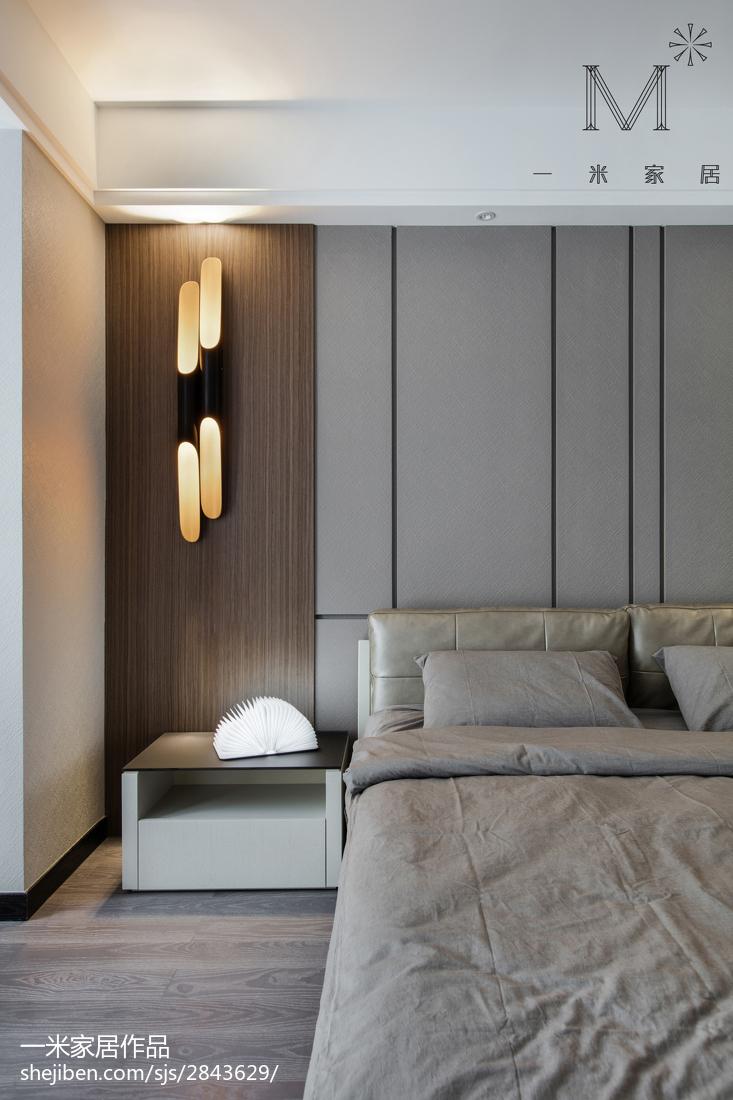 2018精选93平米三居卧室现代装修欣赏图片大全