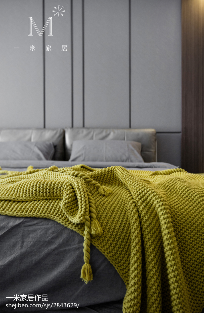 简洁85平现代三居卧室装修案例