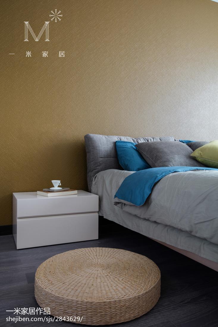 优美127平现代三居卧室实景图片