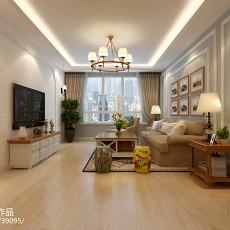 现代家装复式客厅装修效果图2014