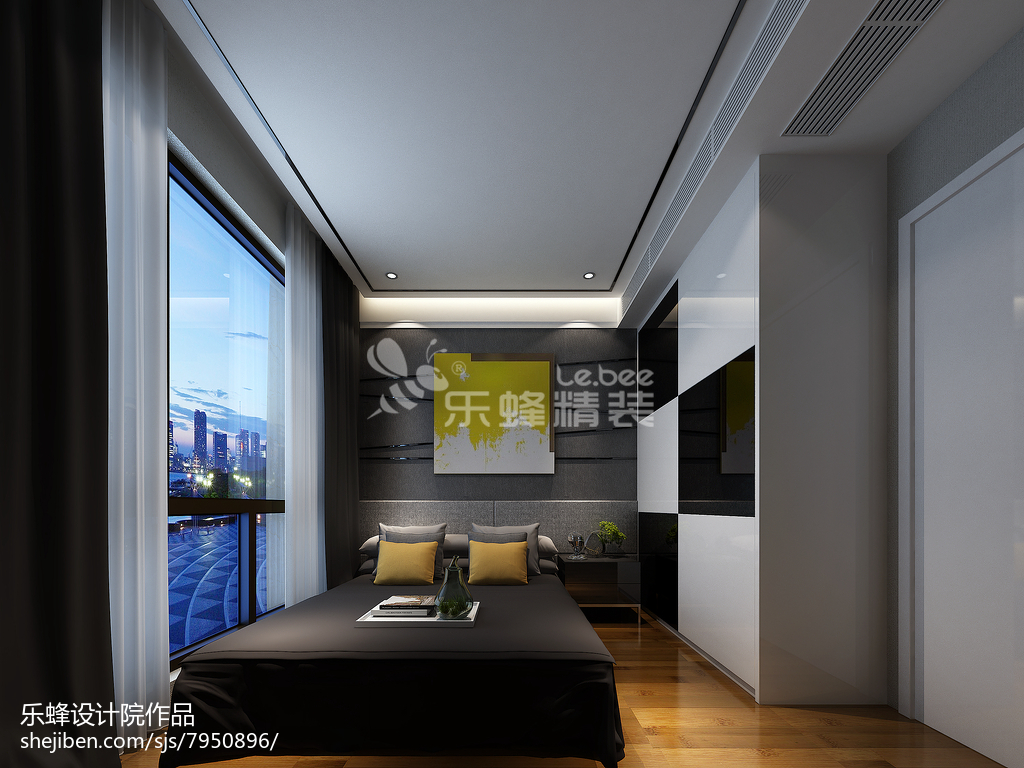 美式四居室装修案例