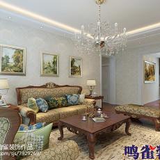 2018精选面积86平欧式二居客厅效果图片欣赏