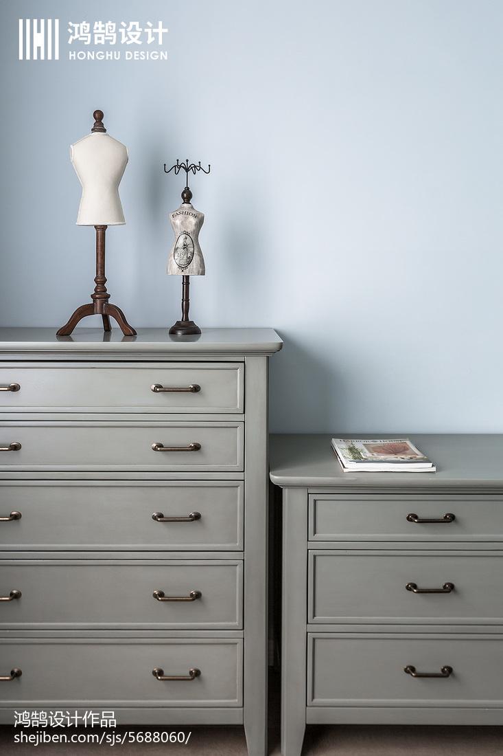 简洁100平美式三居卧室设计美图