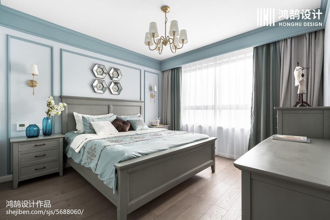 优雅124平美式三居卧室图片欣赏