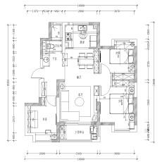 现代风格两室两厅装修效果图片大全