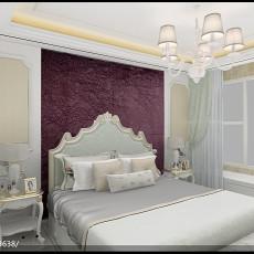 面积105平欧式三居卧室装饰图片