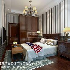 130平方美式别墅卧室实景图片大全