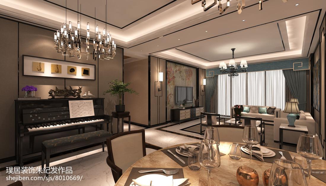 2018128平米欧式别墅装修设计效果图片大全