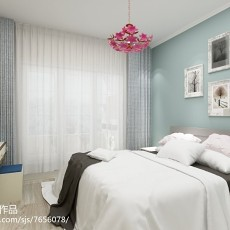 81平米二居卧室美式装修欣赏图