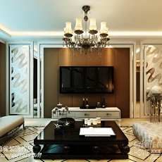 精选83平米二居客厅欧式欣赏图片大全