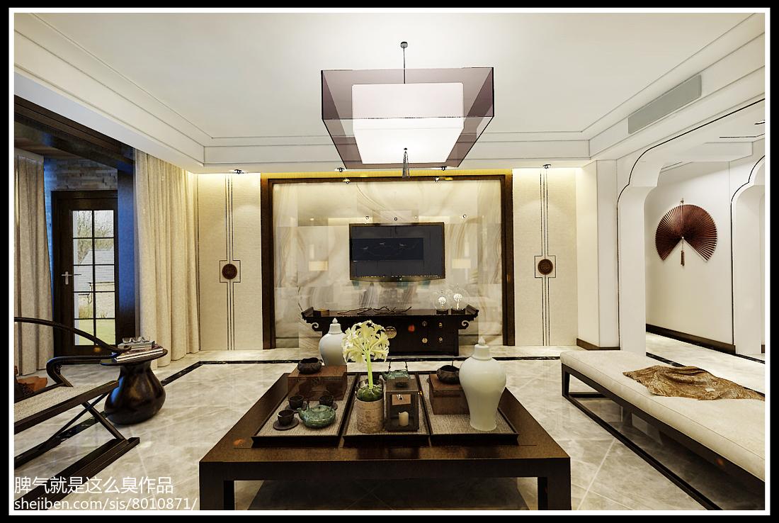 逸品尚东别墅中式风格装修餐厅效果图大全2014图片