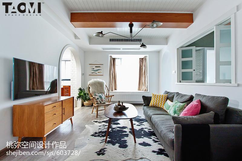 热门北欧二居客厅装修设计效果图