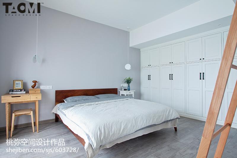 简洁79平北欧二居卧室装修图