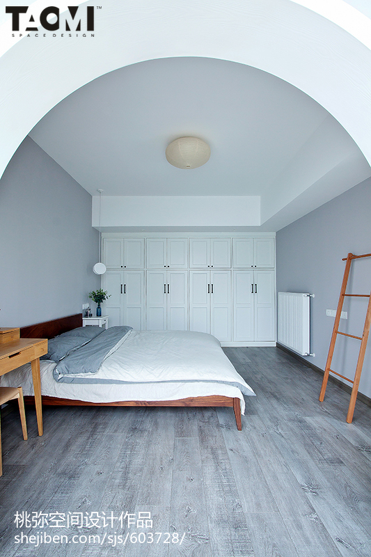 热门85平米二居卧室北欧装修实景图片