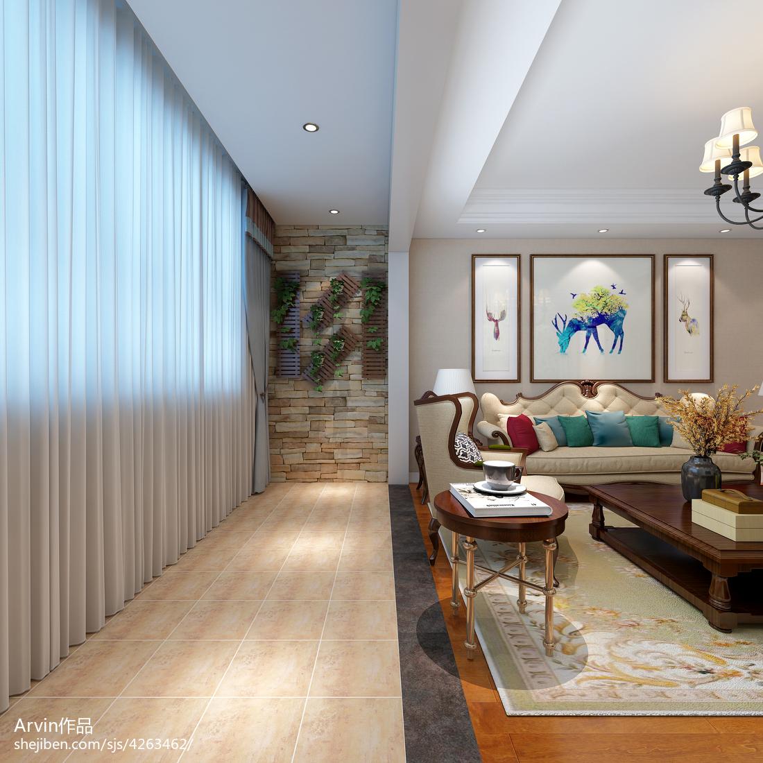 美式简约风格客厅设计