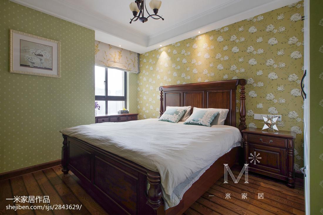 2018精选大小103平美式三居卧室实景图