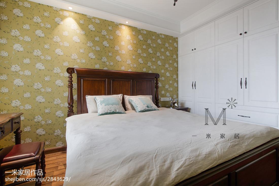 轻奢107平美式三居卧室设计案例