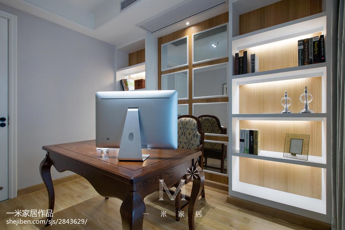 浪漫117平美式三居书房装修效果图