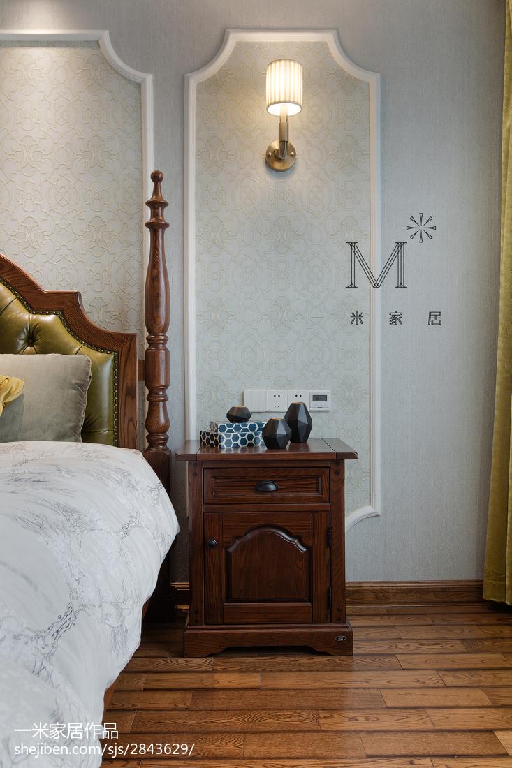 精美83平美式三居卧室装修装饰图